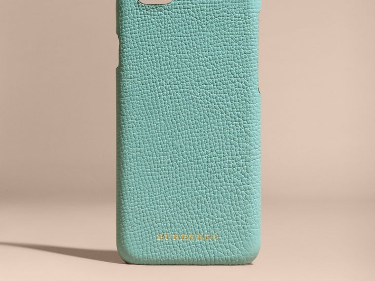 Grainy Leather iPhone 6 Case in Pale Opal - Women | Burberry - cell image 4