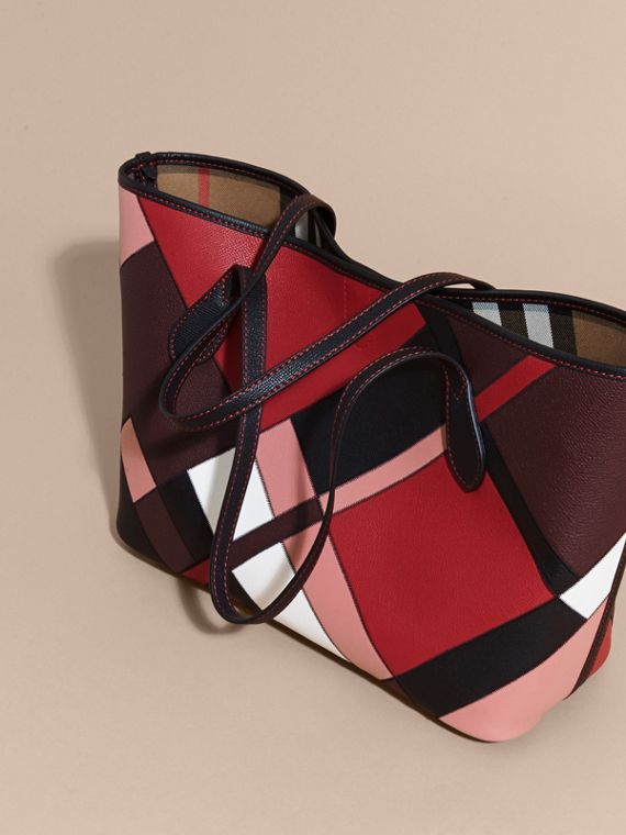 Medium Patchwork Grainy Leather Tote Bag in Pink - Women | Burberry Hong Kong - cell image 3