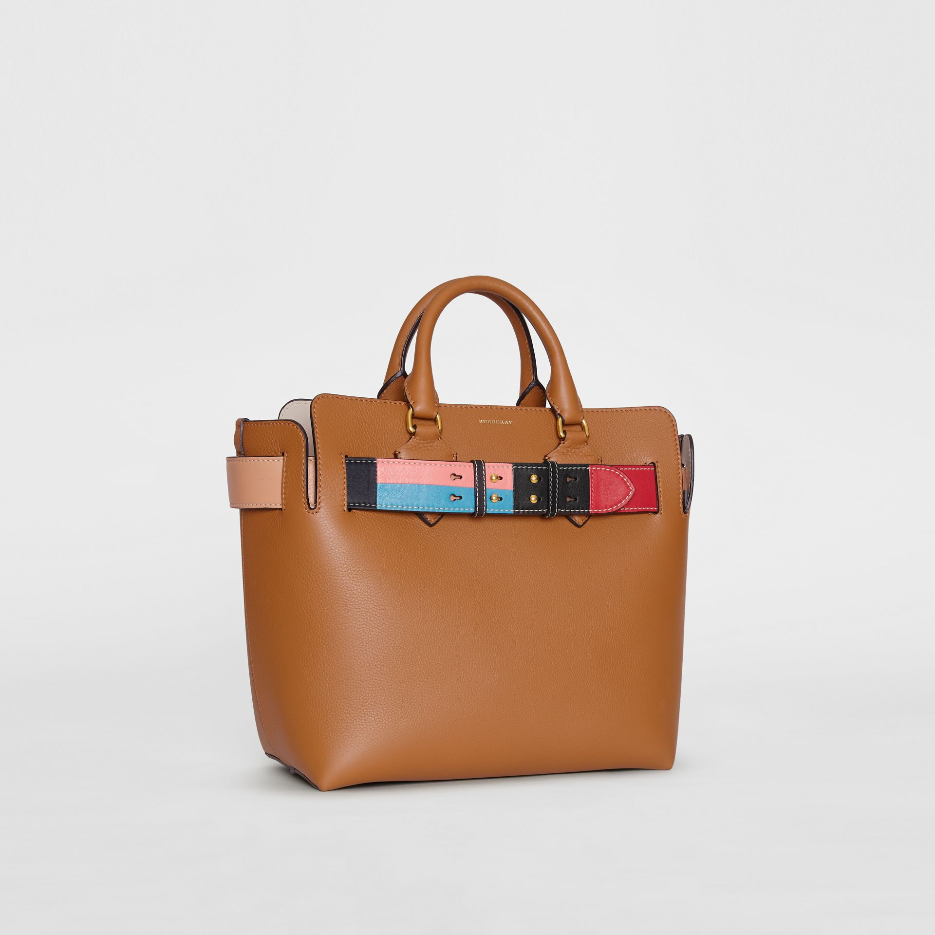 The Medium Leather Colour Block Detail Belt Bag in Cognac - Women | Burberry United States - gallery image 6