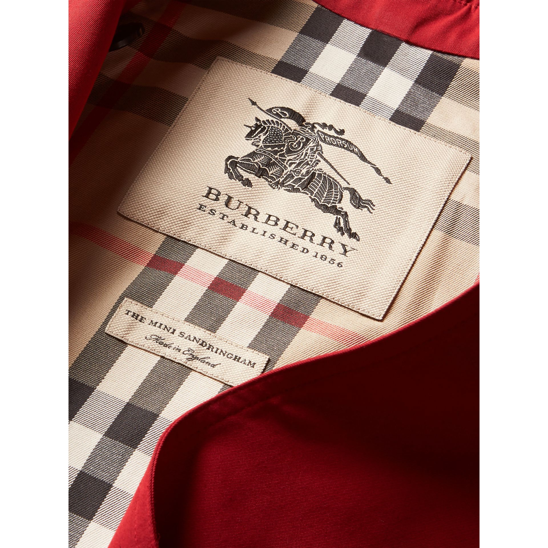The Sandringham Trench Coat in Parade Red - Girl | Burberry - gallery image 6