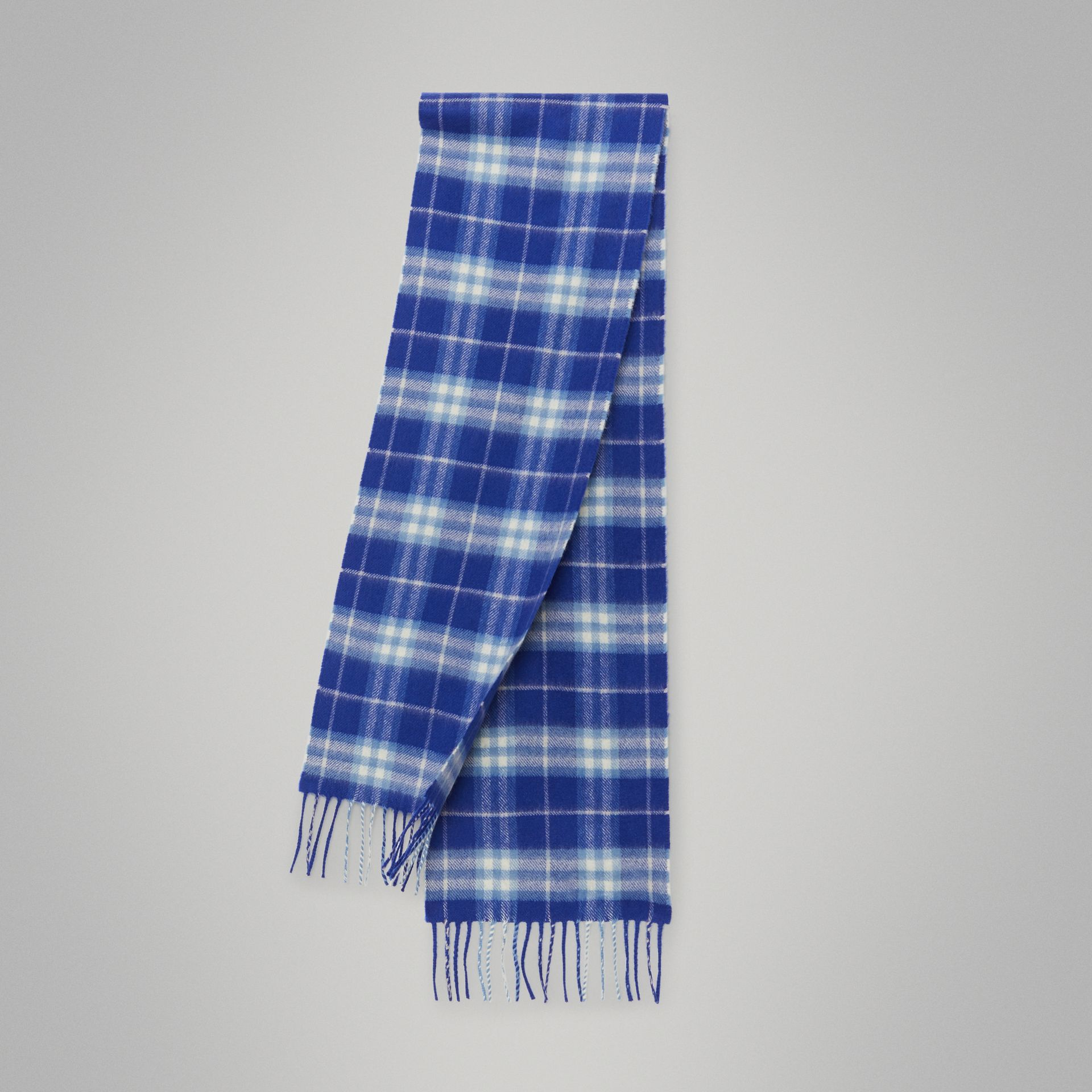 The Mini Classic Vintage Check Cashmere Scarf in Bright Lapis - Children | Burberry - gallery image 0