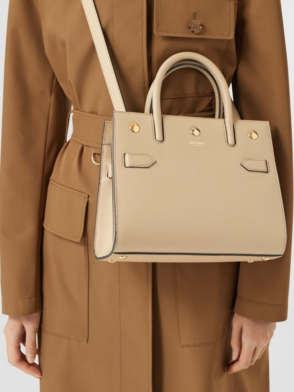 Mini Leather Two-handle Title Bag in Light Beige - Women | Burberry - cell image 2