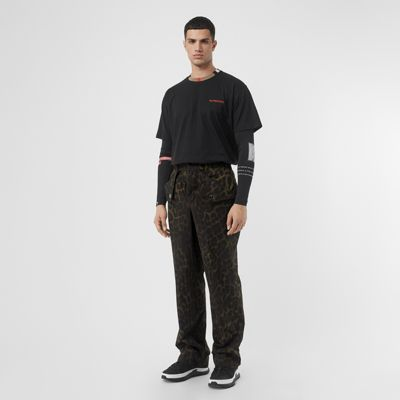 Icon Stripe Detail Cotton T Shirt by Burberry