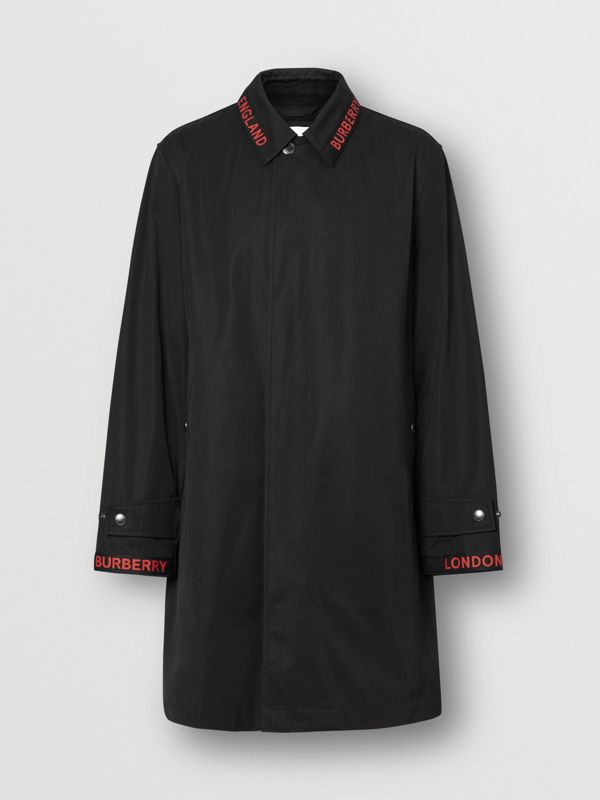 Logo Detail Technical Cotton Blend Car Coat in Black - Men | Burberry - cell image 3