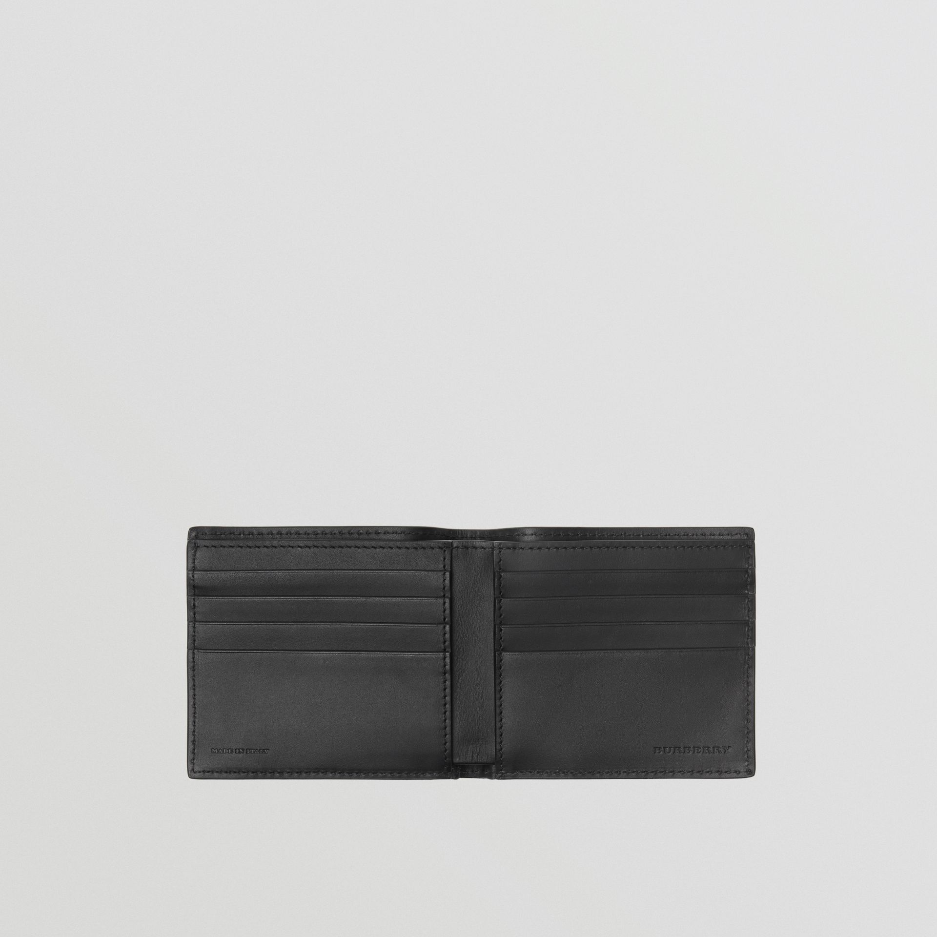 Graffiti Print Leather International Bifold Wallet in Black - Men | Burberry United States - gallery image 2