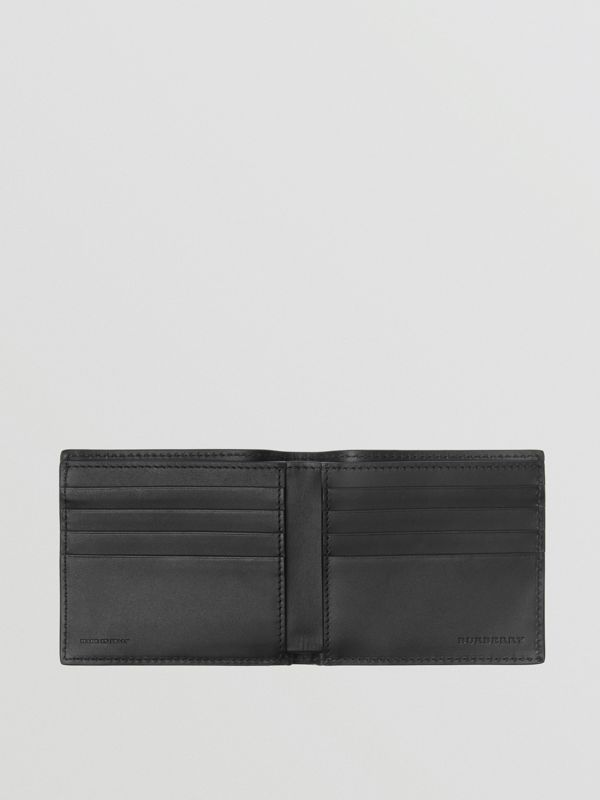 Graffiti Print Leather International Bifold Wallet in Black - Men | Burberry United Kingdom - cell image 2