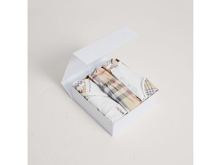 Cotton Six-piece Baby Gift Set in White | Burberry - cell image 2