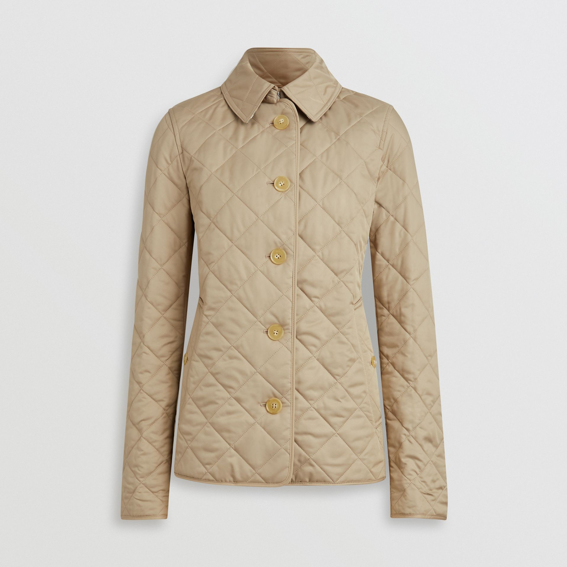 Diamond Quilted Jacket in Canvas - Women | Burberry Australia - gallery image 3