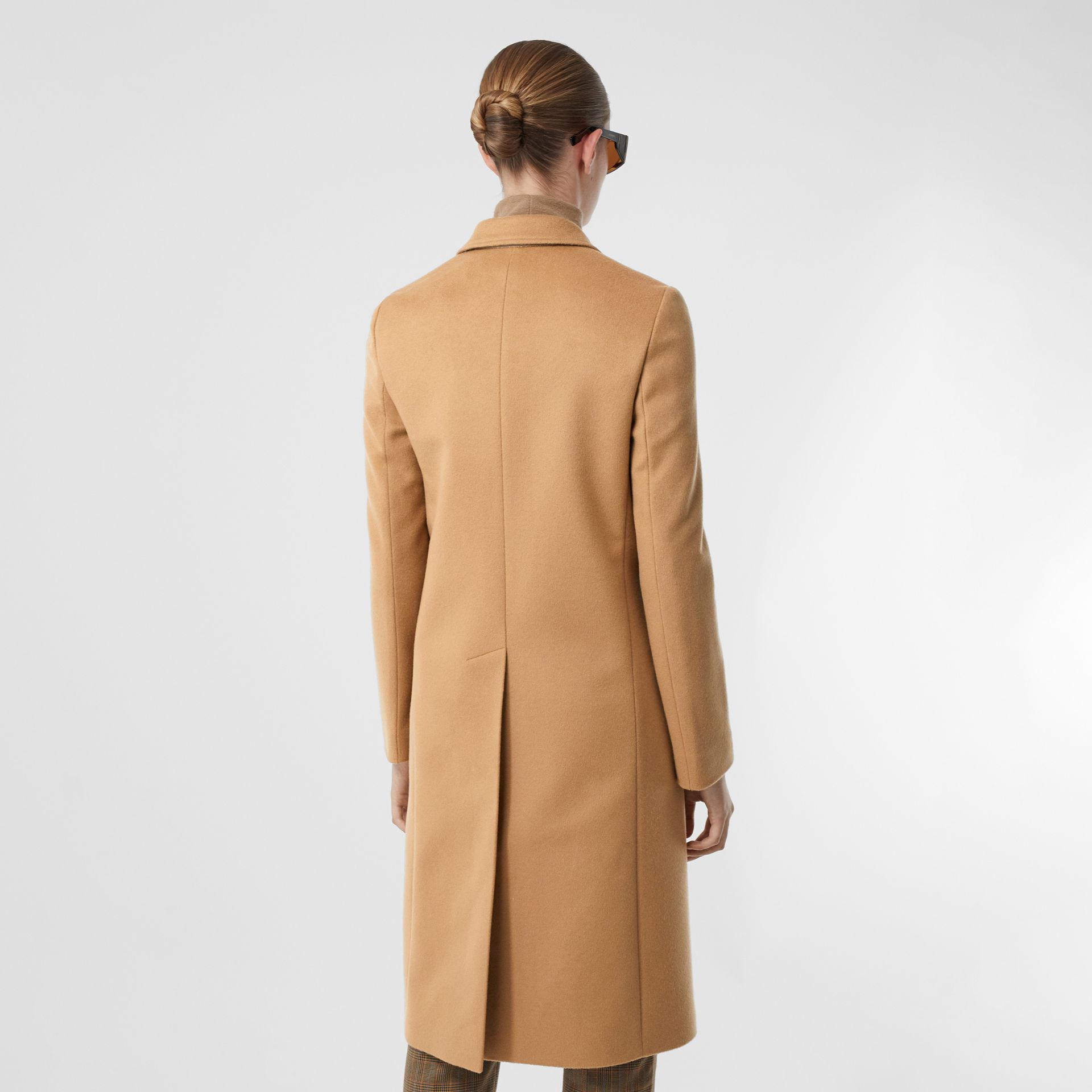 Wool Cashmere Tailored Coat in Light Camel - Women | Burberry - gallery image 2