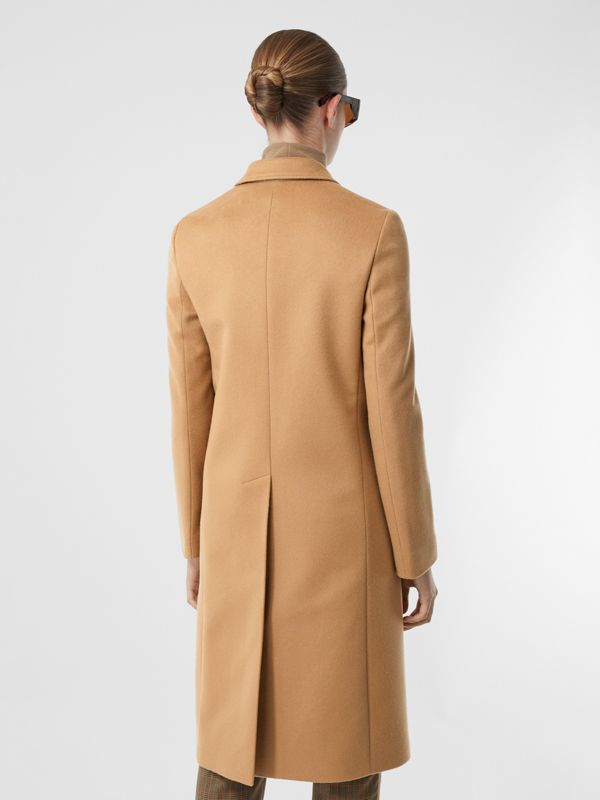 Wool Cashmere Tailored Coat in Light Camel - Women | Burberry United Kingdom - cell image 2