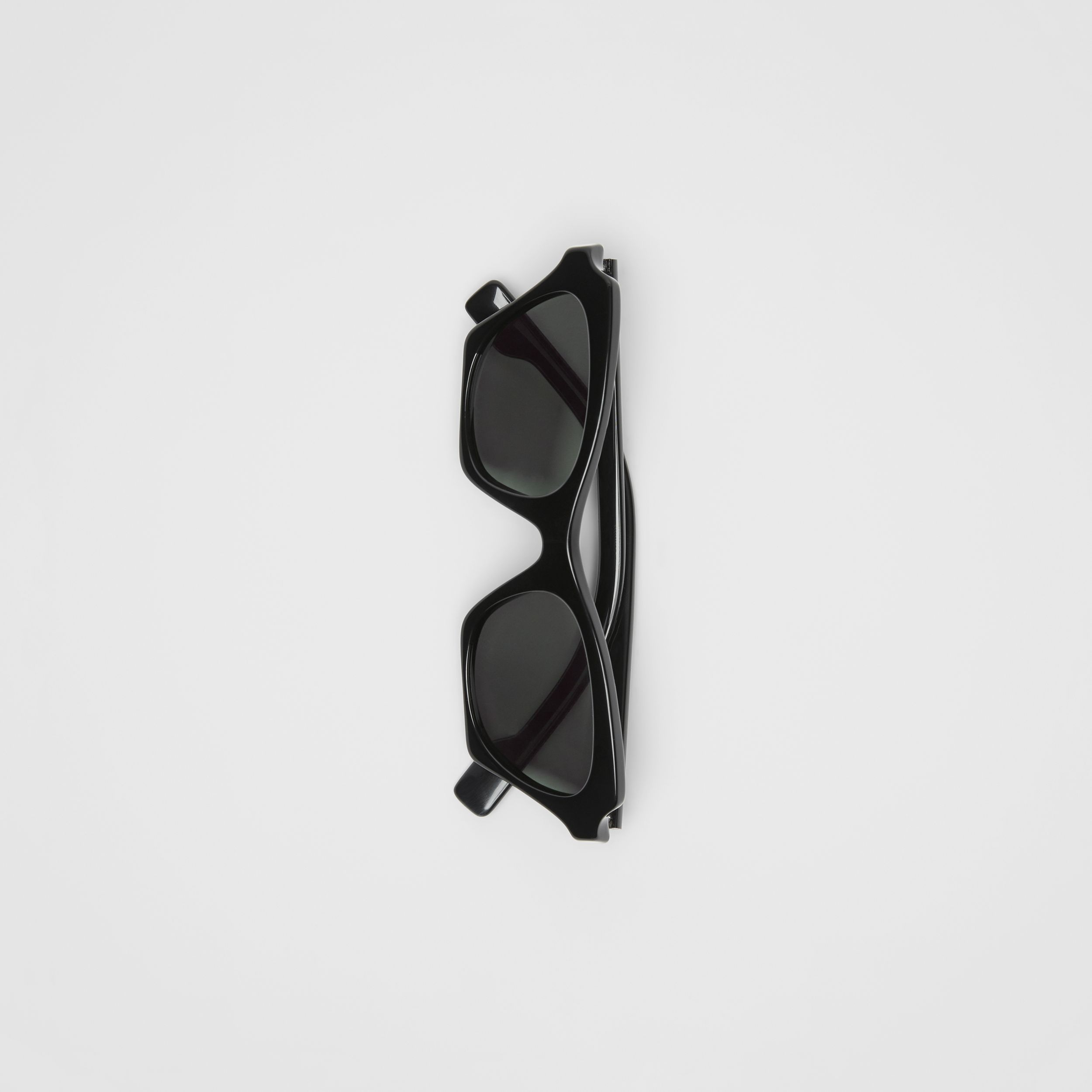 Butterfly Frame Sunglasses in Black | Burberry United Kingdom - 4