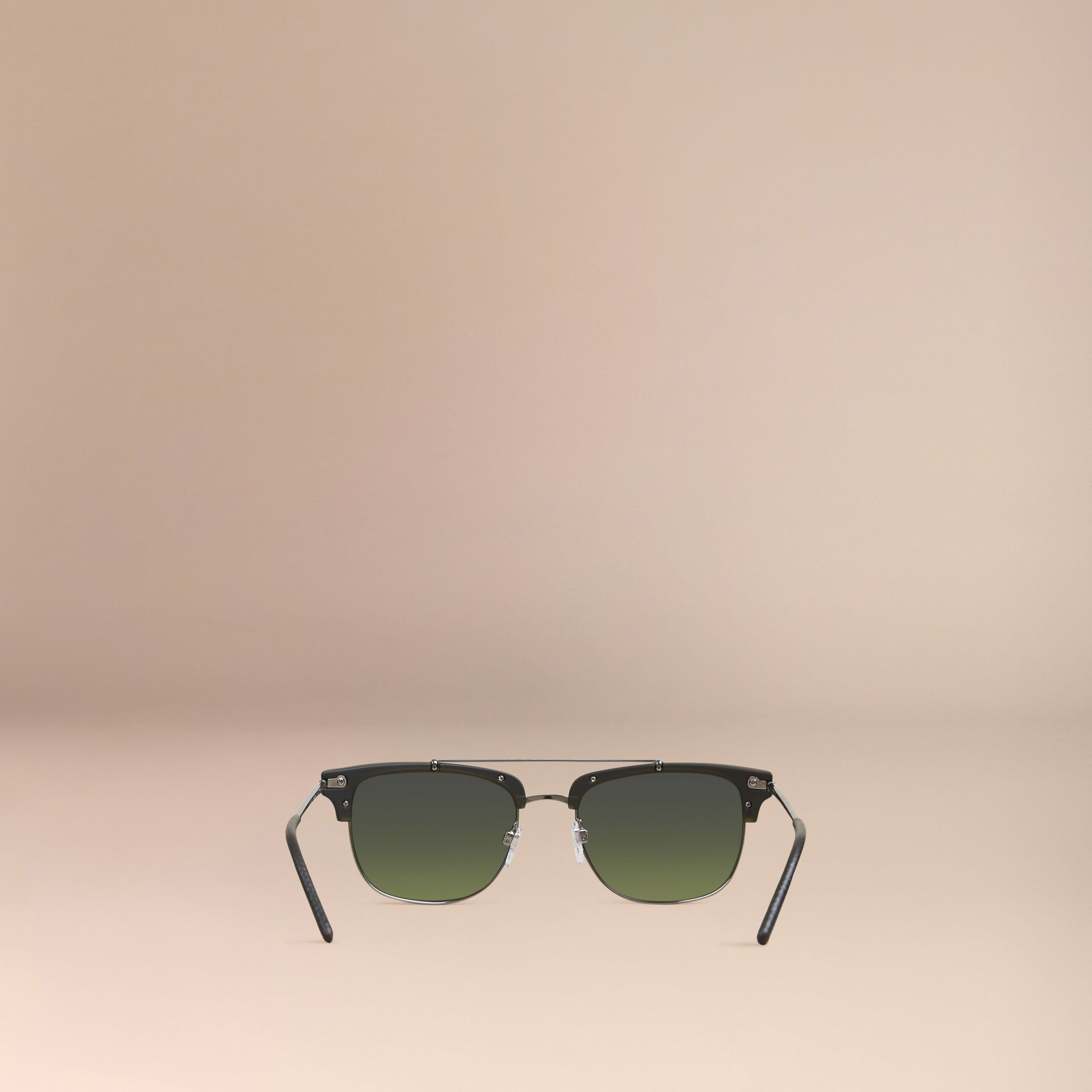 Square Frame Sunglasses Olive - gallery image 4