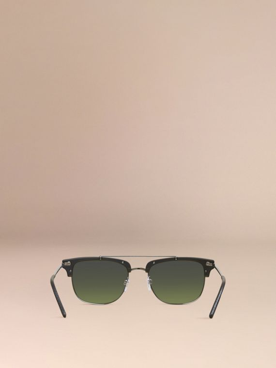 Square Frame Sunglasses Olive - cell image 3