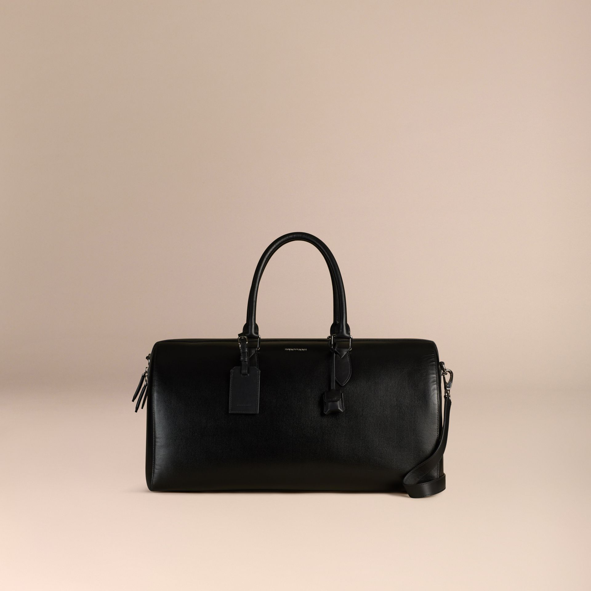 London Leather Holdall in Black | Burberry - gallery image 7