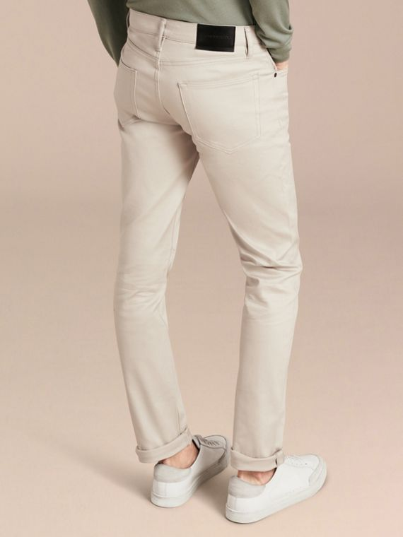 Pale stone Slim Fit Japanese Stretch Denim Jeans Pale Stone - cell image 2
