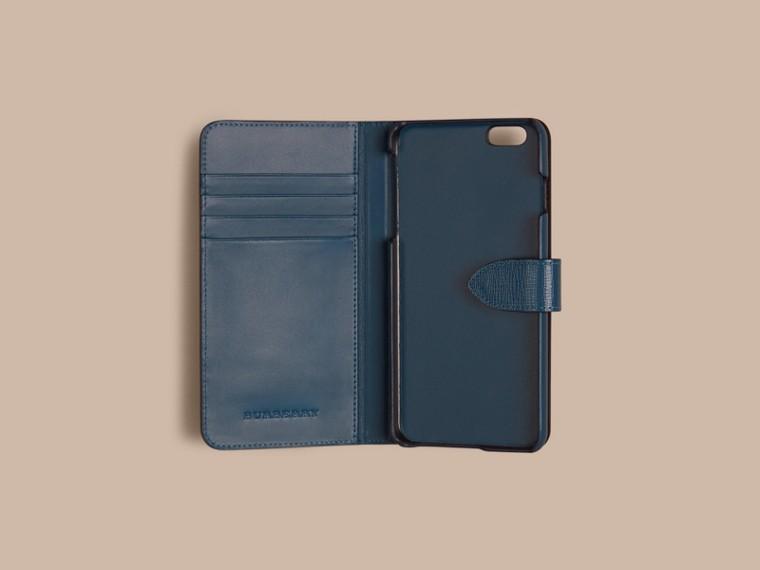 Bleu minéral Étui à rabat pour iPhone6Plus en cuir London Bleu Minéral - cell image 1