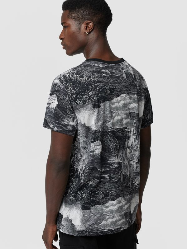 Dreamscape Print Cotton T-shirt in Black - Men | Burberry United Kingdom - cell image 2