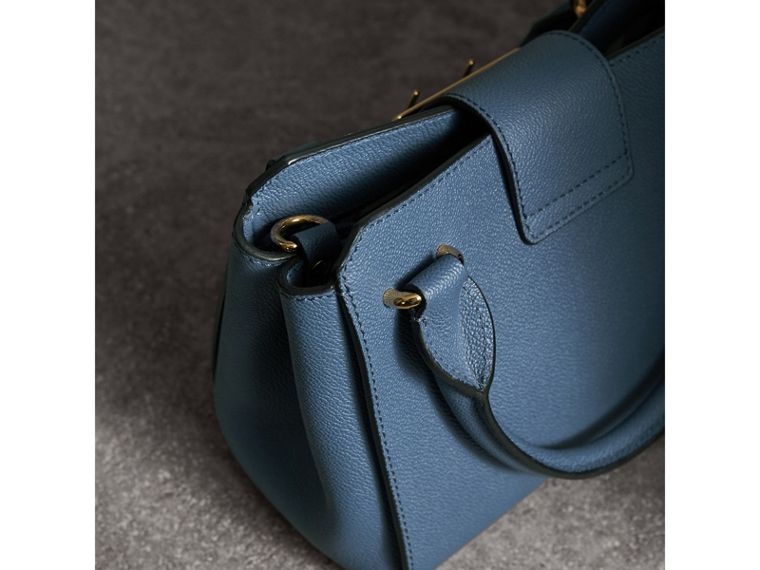 The Small Buckle Tote in Grainy Leather in Steel Blue - Women | Burberry - cell image 4