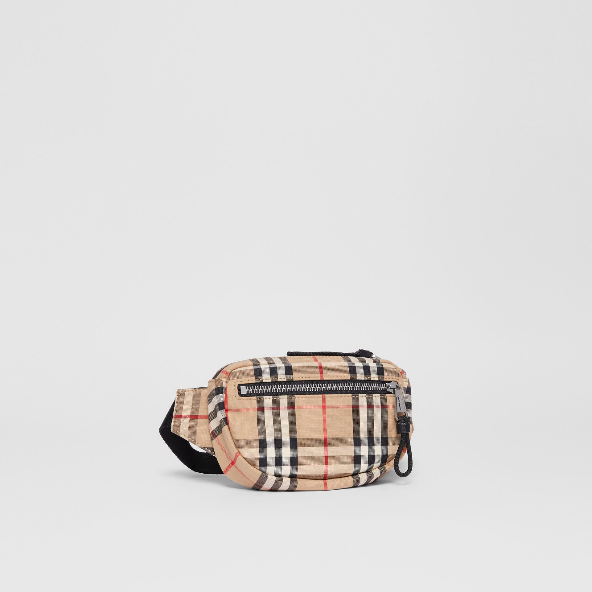 Small Vintage Check Cannon Bum Bag in Archive Beige | Burberry United Kingdom - gallery image 6