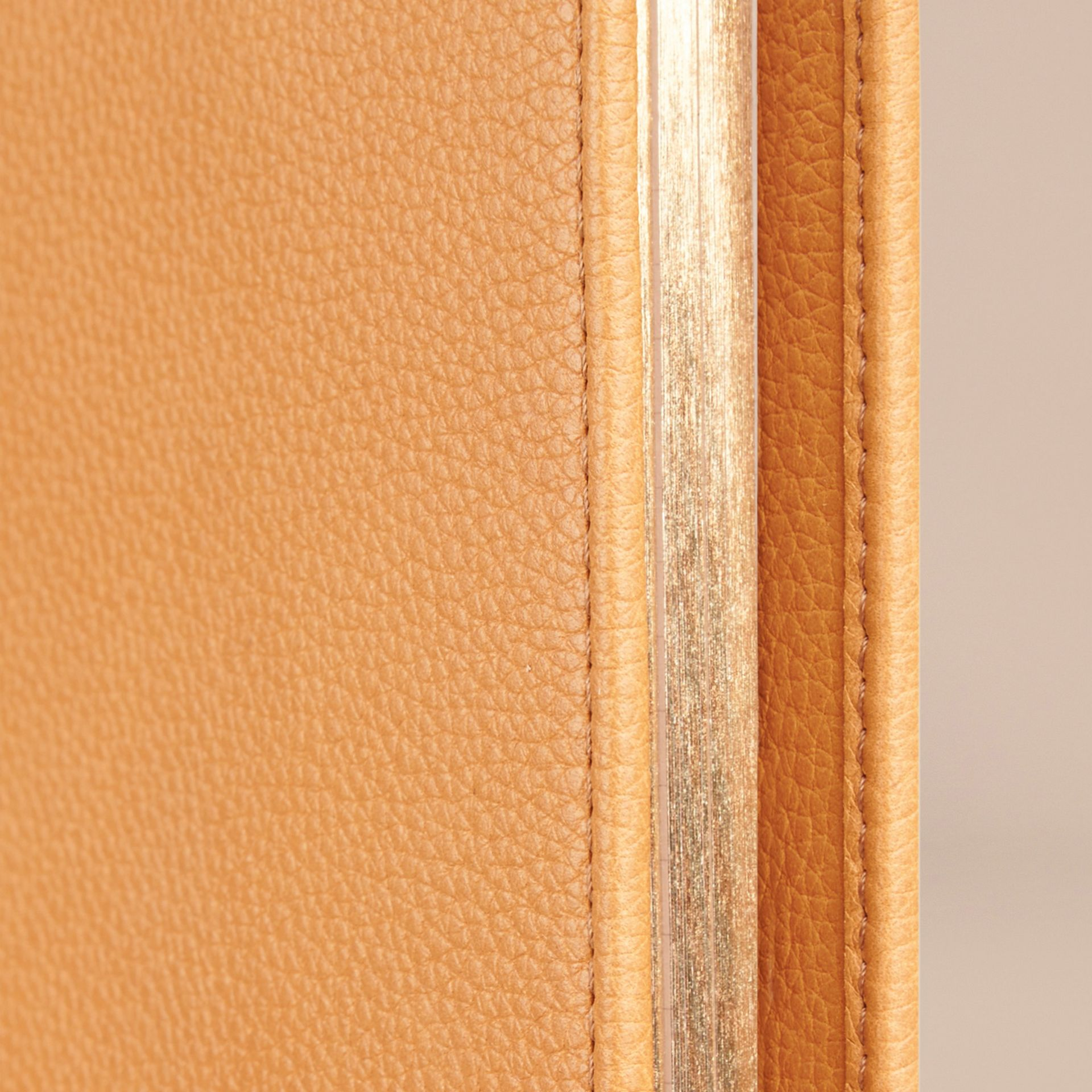 Grainy Leather 18 Month 2016/17 A5 Diary in Ochre Yellow - gallery image 2