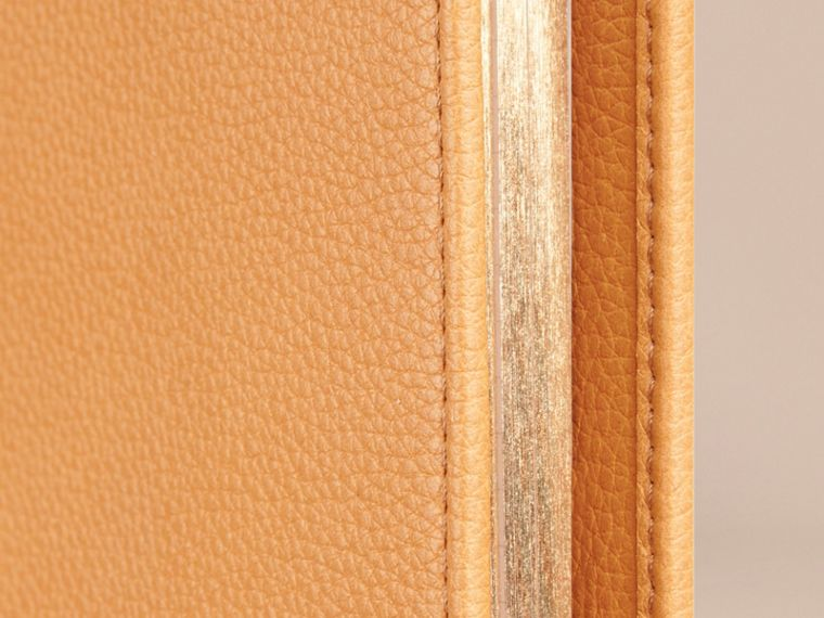 Grainy Leather 18 Month 2016/17 A5 Diary in Ochre Yellow | Burberry - cell image 1