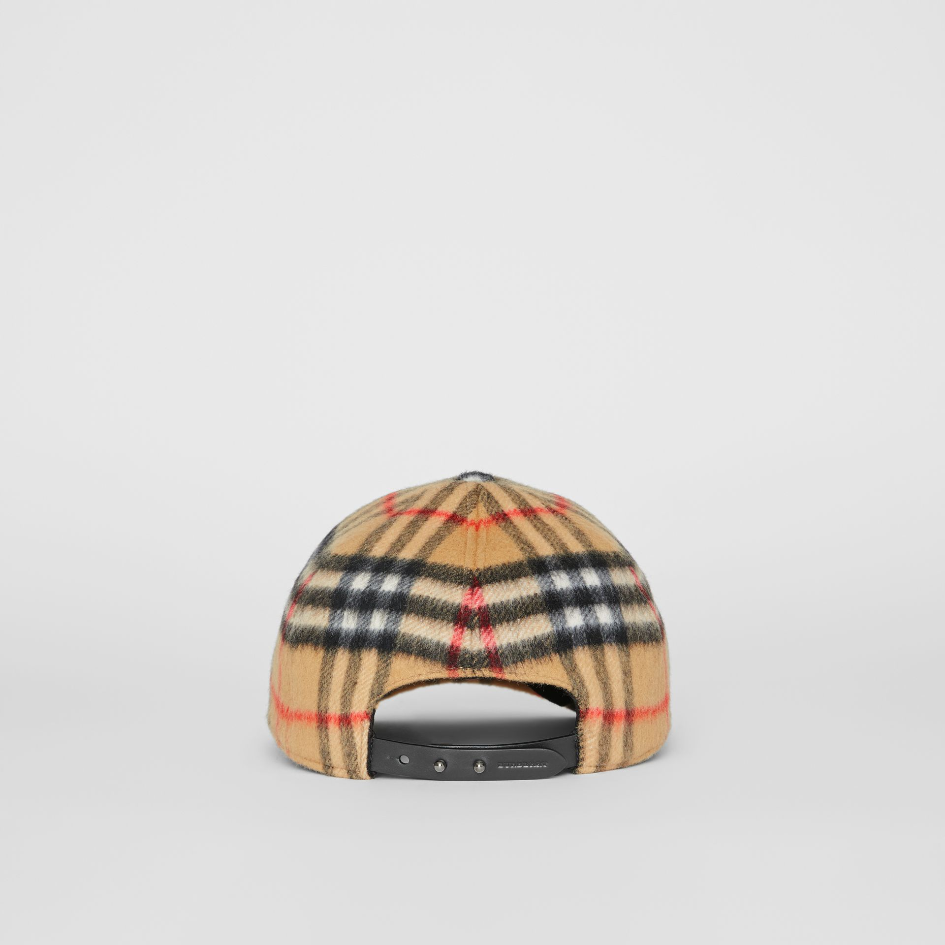 Vintage Check Wool Baseball Cap in Antique Yellow | Burberry United Kingdom - gallery image 4
