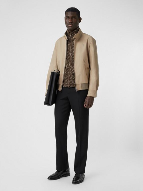 Cotton Harrington Jacket with Detachable Warmer in Honey
