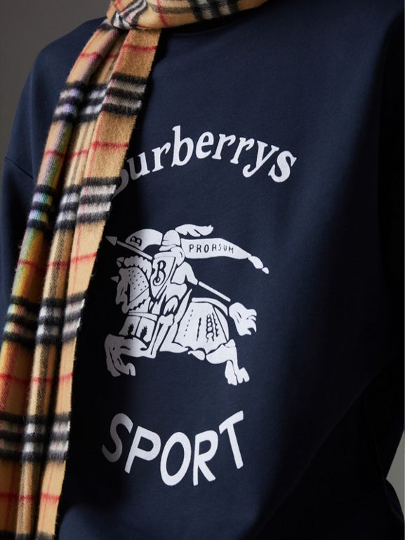 Reissued Jersey Sweatshirt in Navy Blue - Men | Burberry United Kingdom - cell image 1