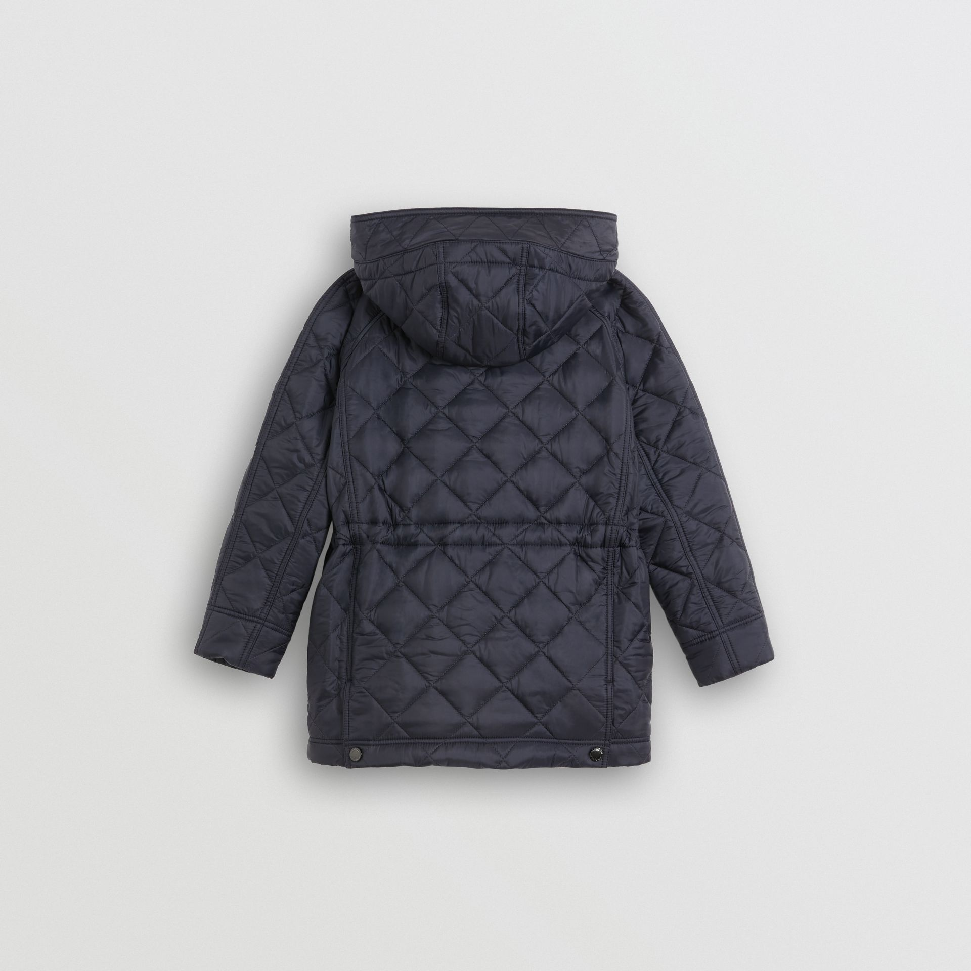 Diamond Quilted Hooded Jacket in Navy | Burberry - gallery image 3