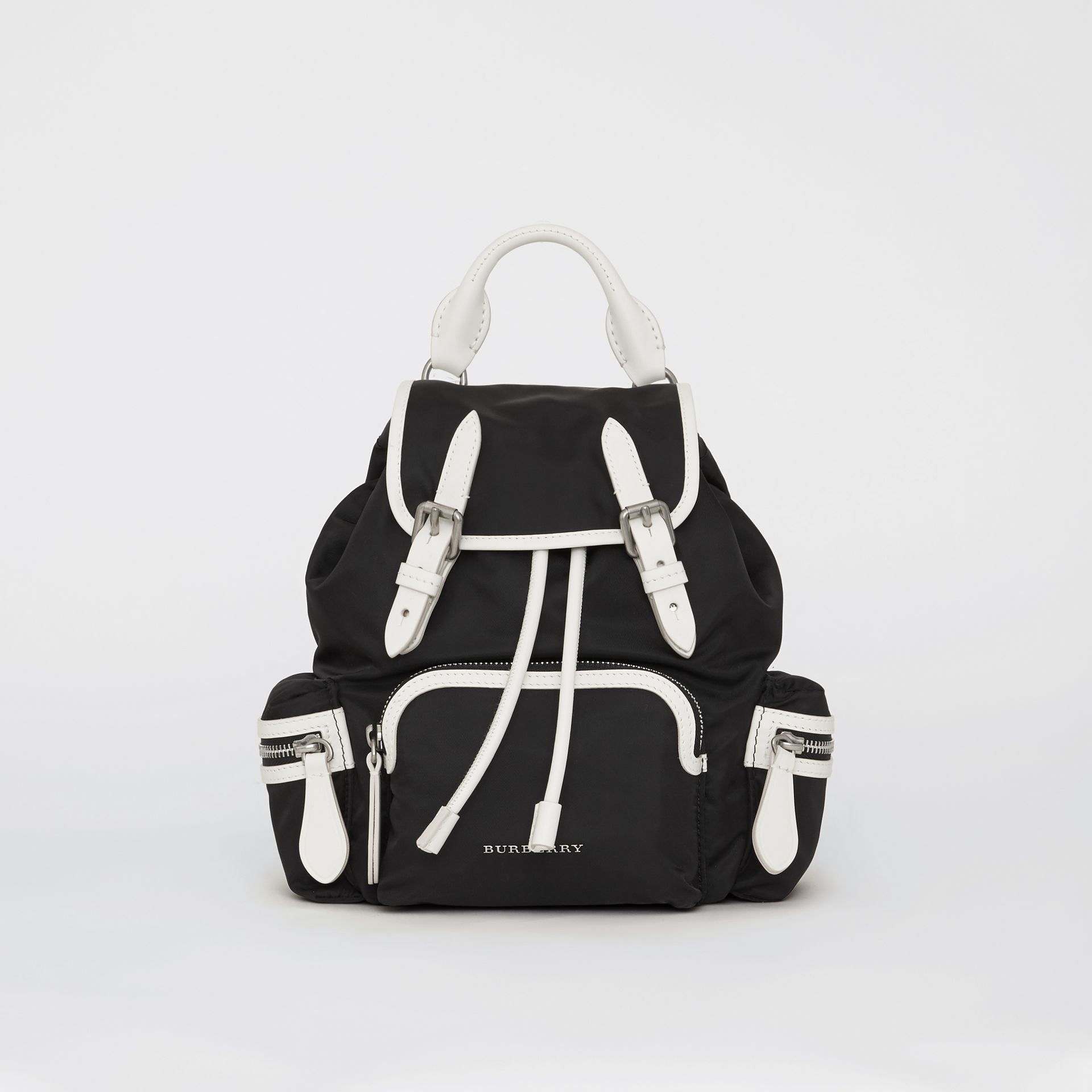 The Small Crossbody Rucksack in Nylon in Black - Women | Burberry Canada - gallery image 0