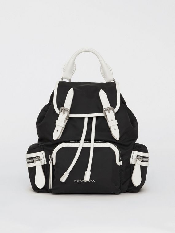 The Small Crossbody Rucksack in Nylon in Black