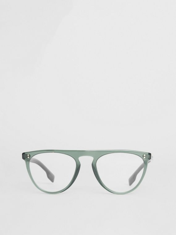 Keyhole D-shaped Optical Frames in Green