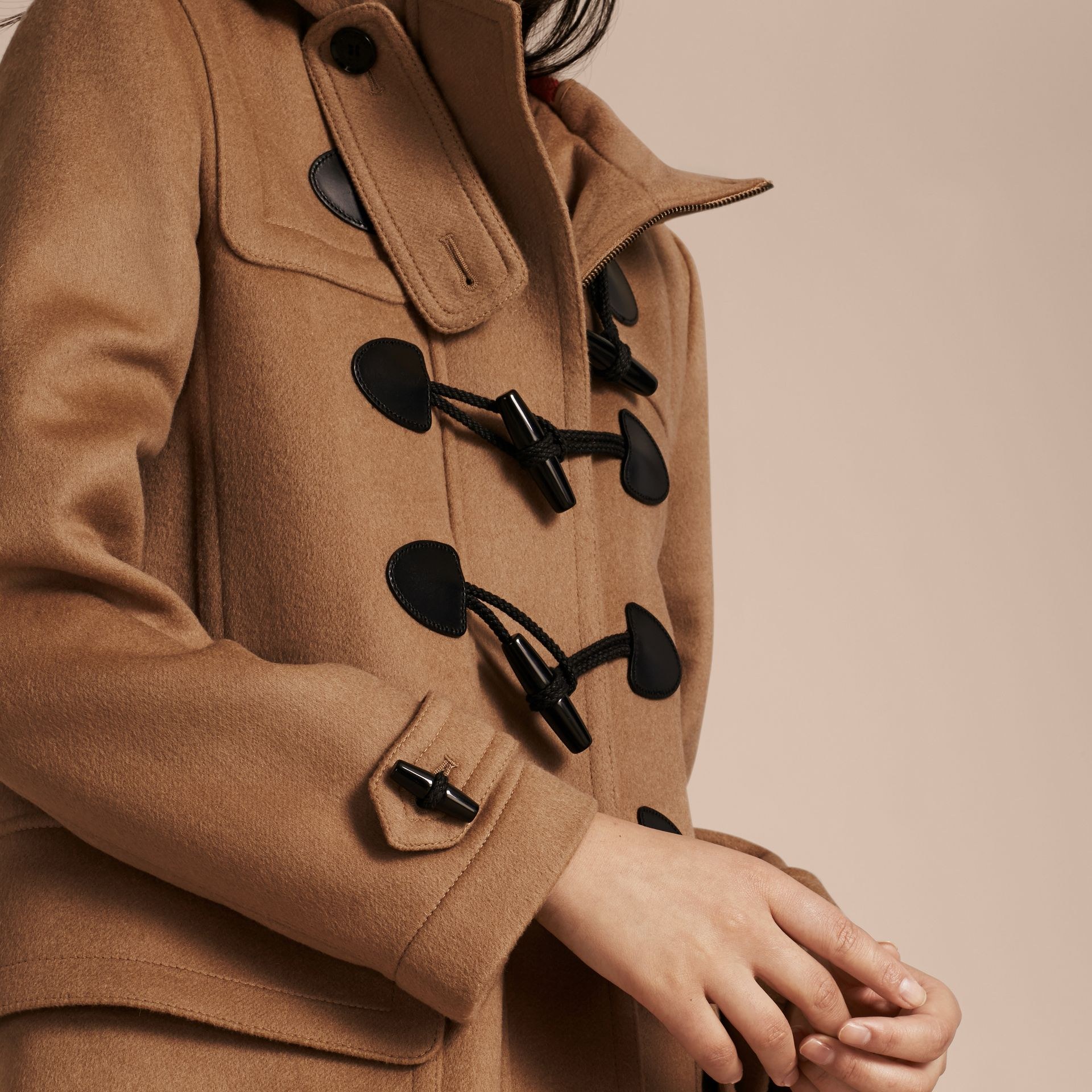 New camel Straight Fit Duffle Coat New Camel - gallery image 4