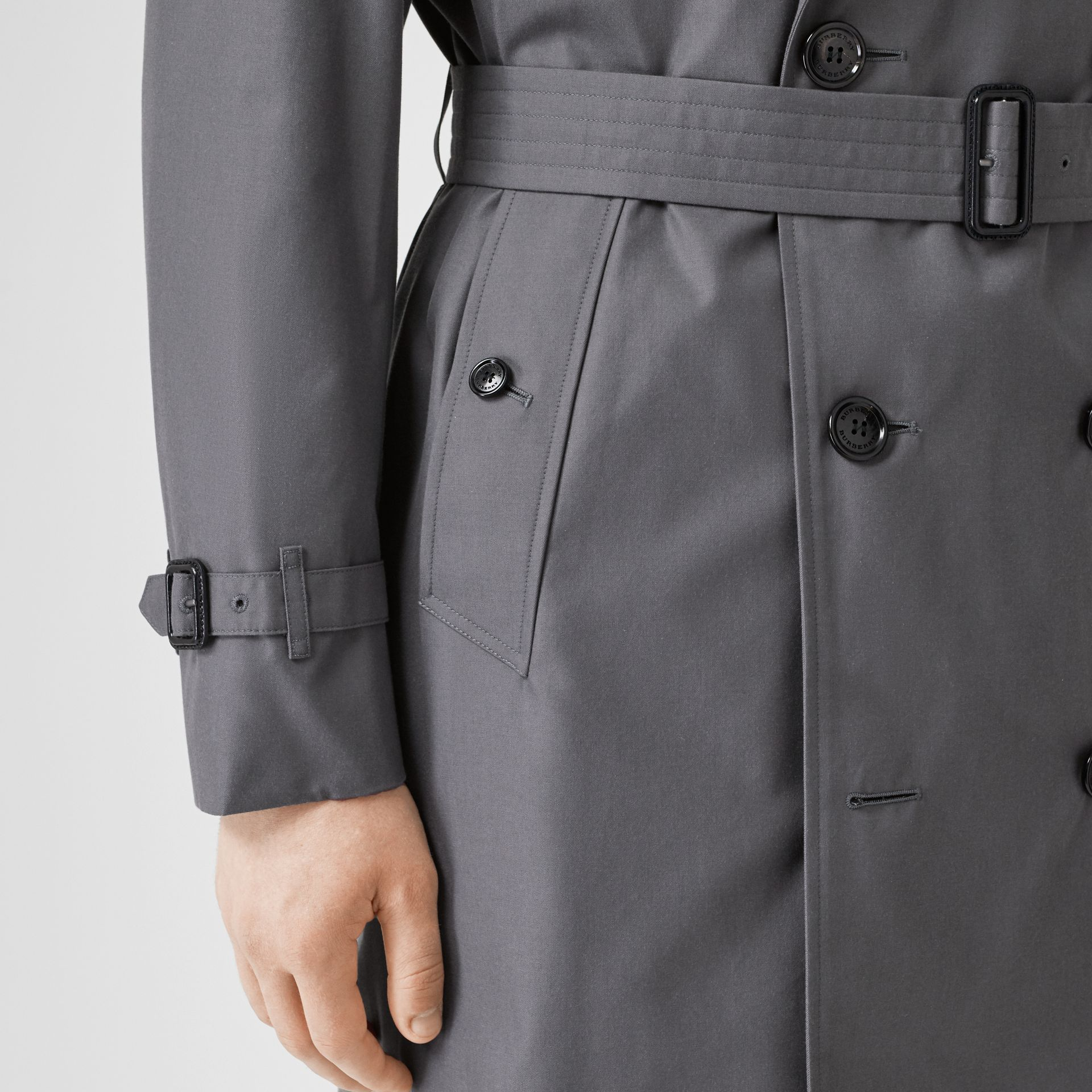 Trench Heritage The Chelsea (Gris Moyen) - Homme | Burberry Canada - photo de la galerie 4