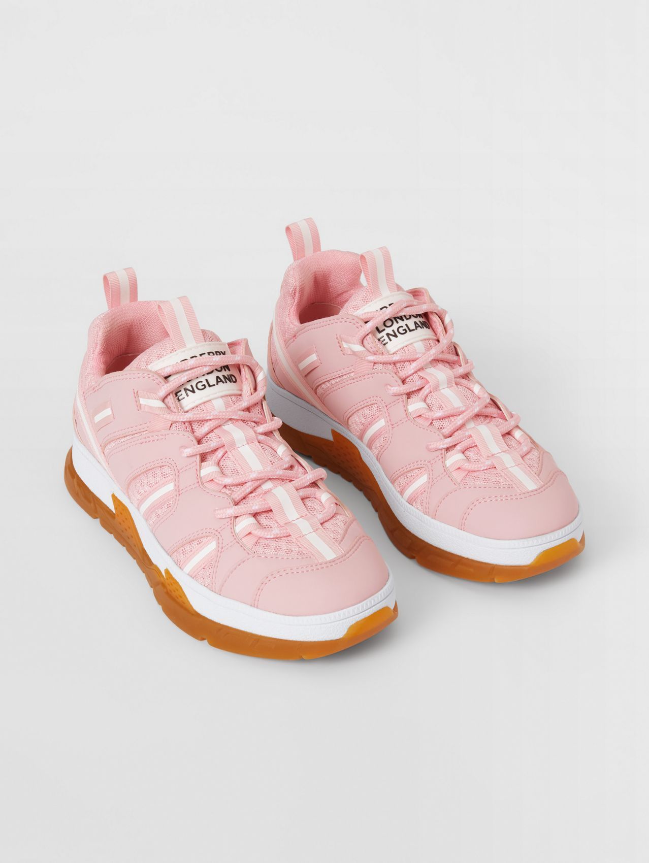 Nylon and Mesh Union Sneakers (Candy Pink)