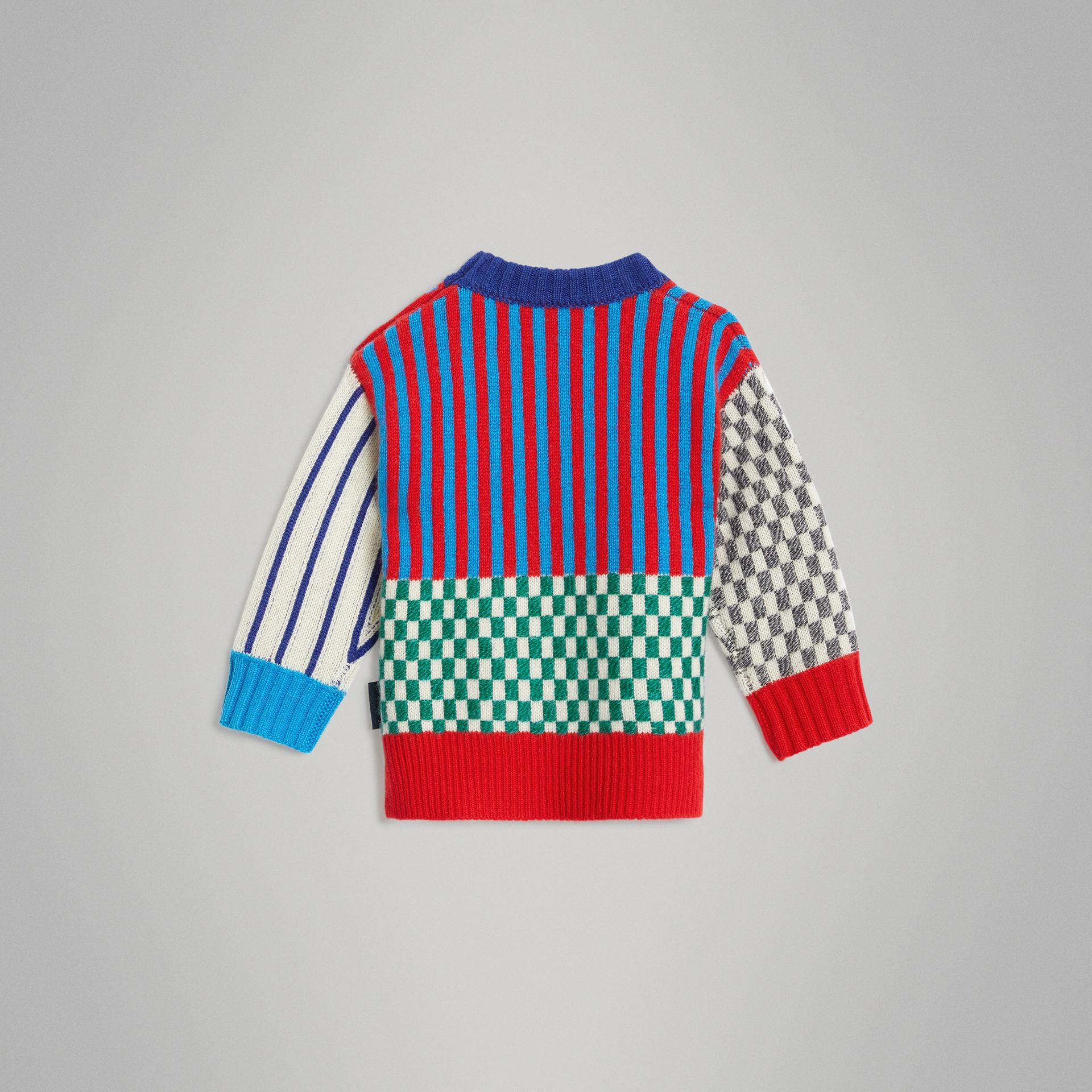 Graphic Cashmere Jacquard Sweater in Multicolour - Children | Burberry - gallery image 3