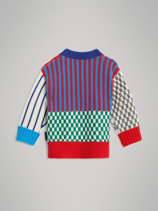 Graphic Cashmere Jacquard Sweater in Multicolour - Children | Burberry - cell image 3