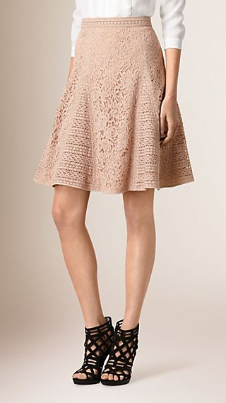 Italian Corded Lace A-Line Skirt