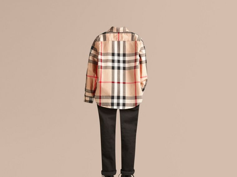 Camicia button-down in cotone con motivo check (New Classic) - Bambino | Burberry - cell image 2