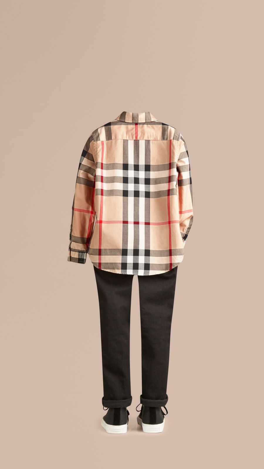 New classic Check Cotton Button-Down Shirt - Image 3