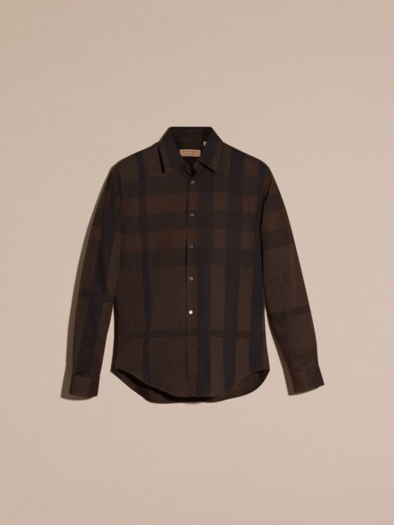 Chocolate check Check Cotton Shirt Chocolate - cell image 2