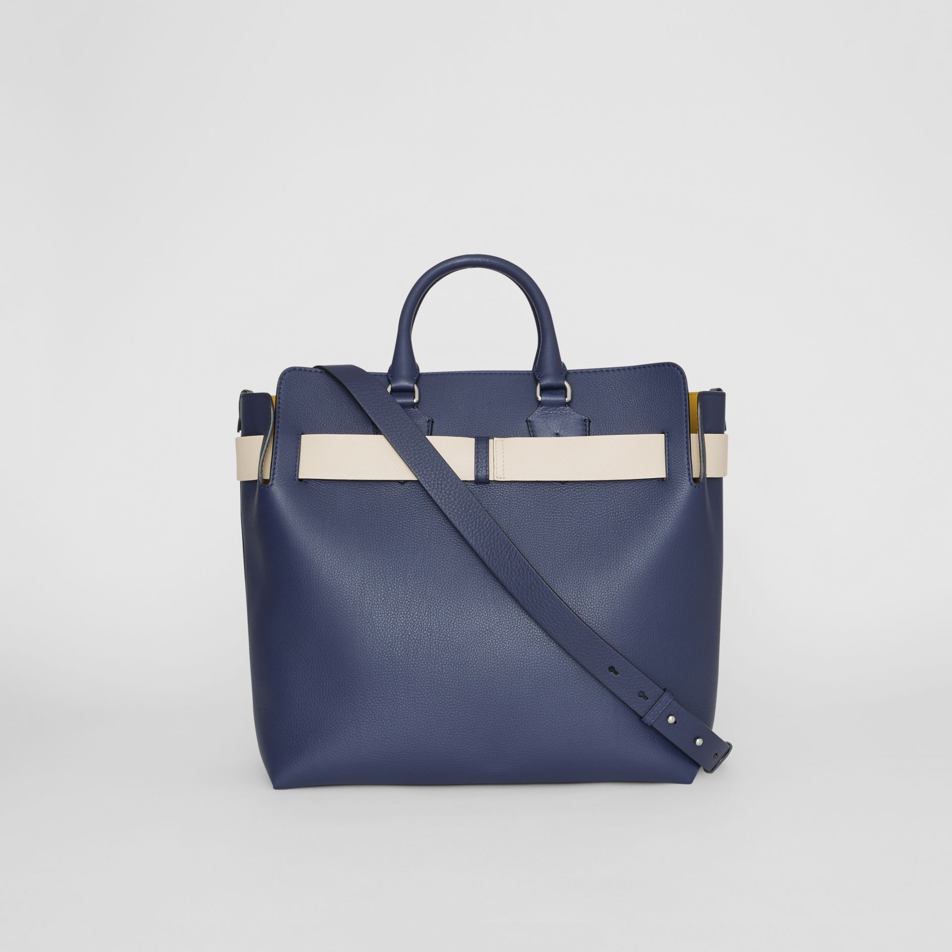 The Large Leather Belt Bag in Regency Blue - Women | Burberry Singapore - gallery image 9
