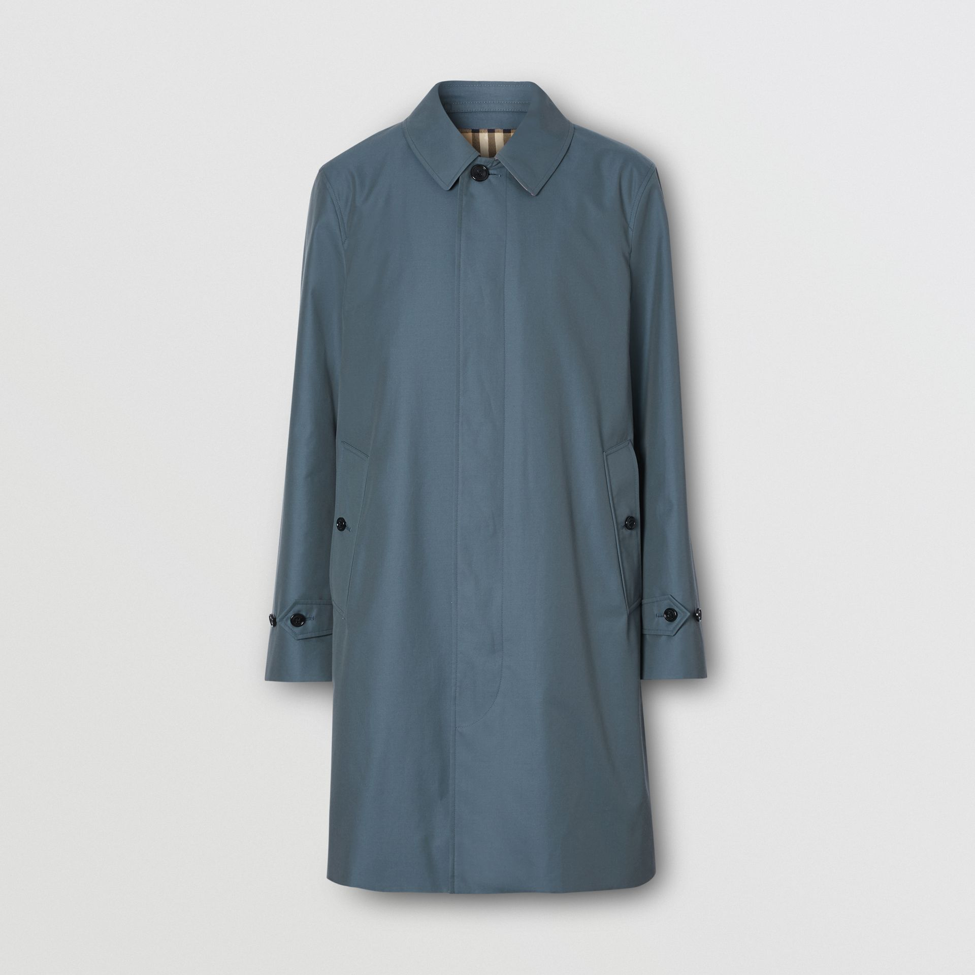 The Pimlico Heritage Car Coat in Blue - Men | Burberry - gallery image 3