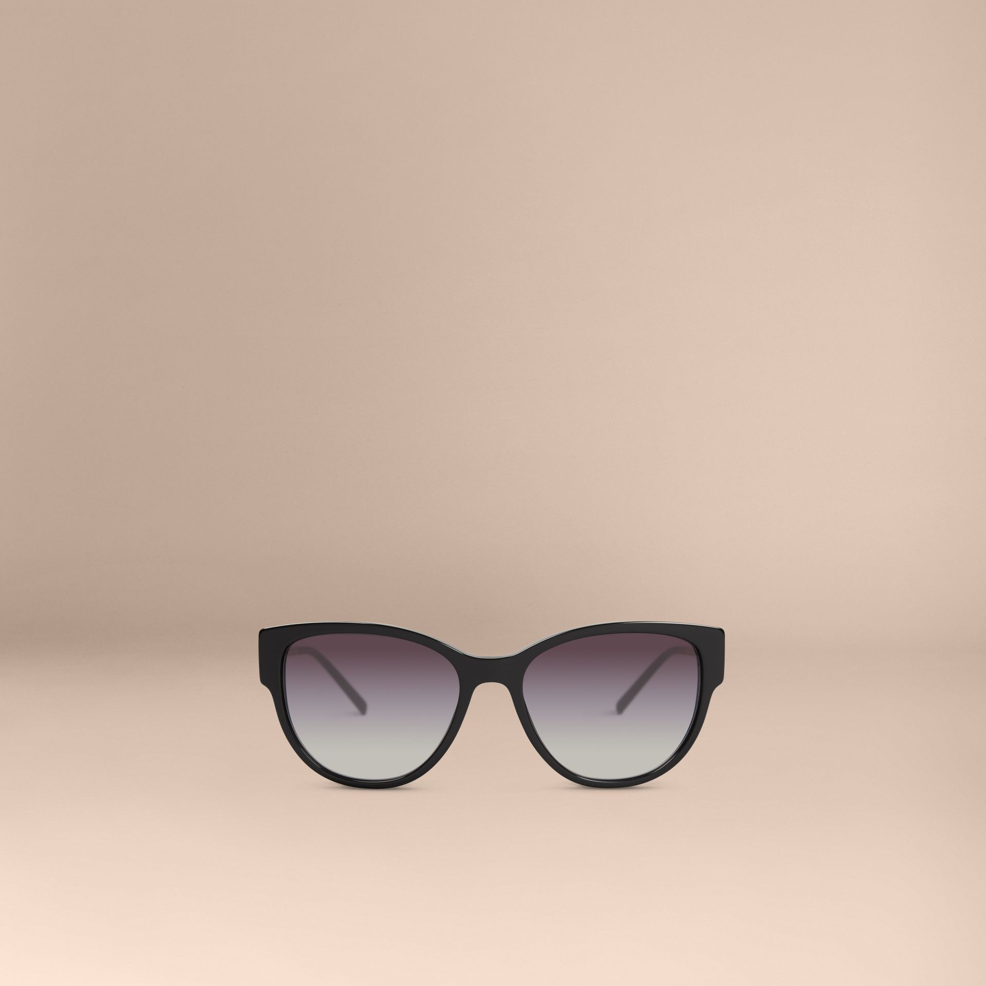 Black Oversize Square Frame Sunglasses - gallery image 2