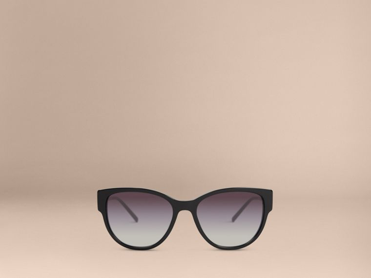 Black Oversize Square Frame Sunglasses - cell image 1