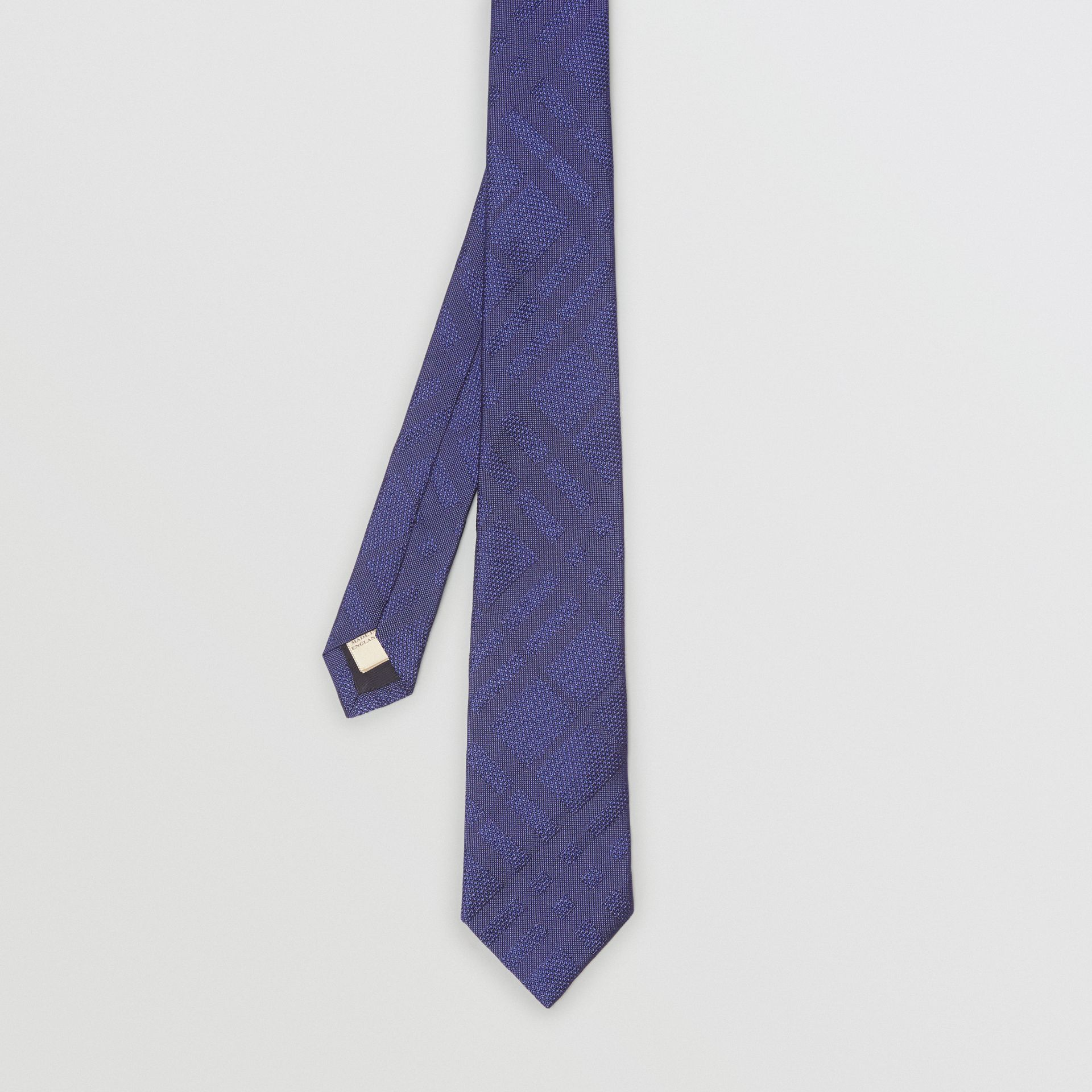Classic Cut Check Silk Jacquard Tie in Blue - Men | Burberry United Kingdom - gallery image 4