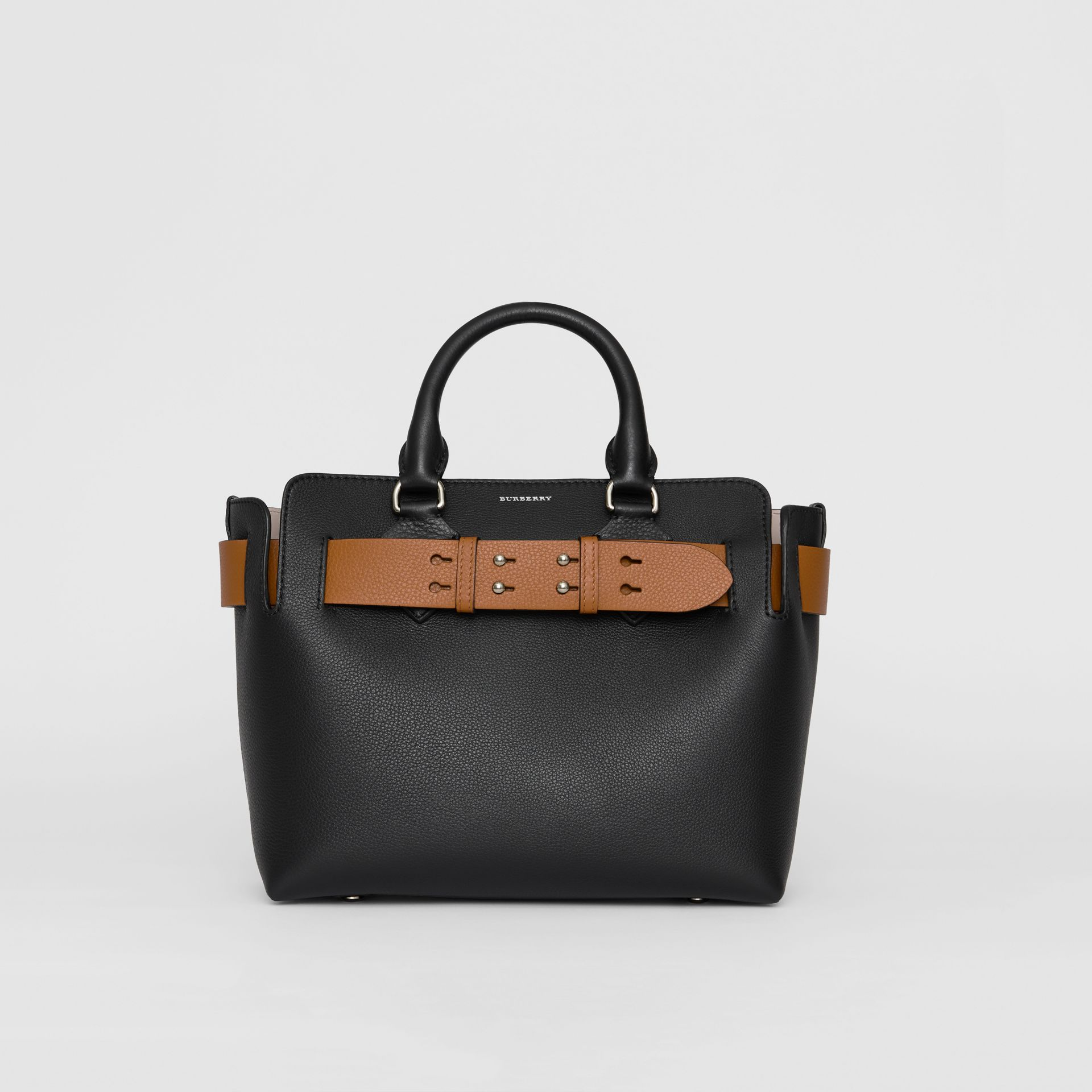 The Small Leather Belt Bag in Black - Women | Burberry Australia - gallery image 0