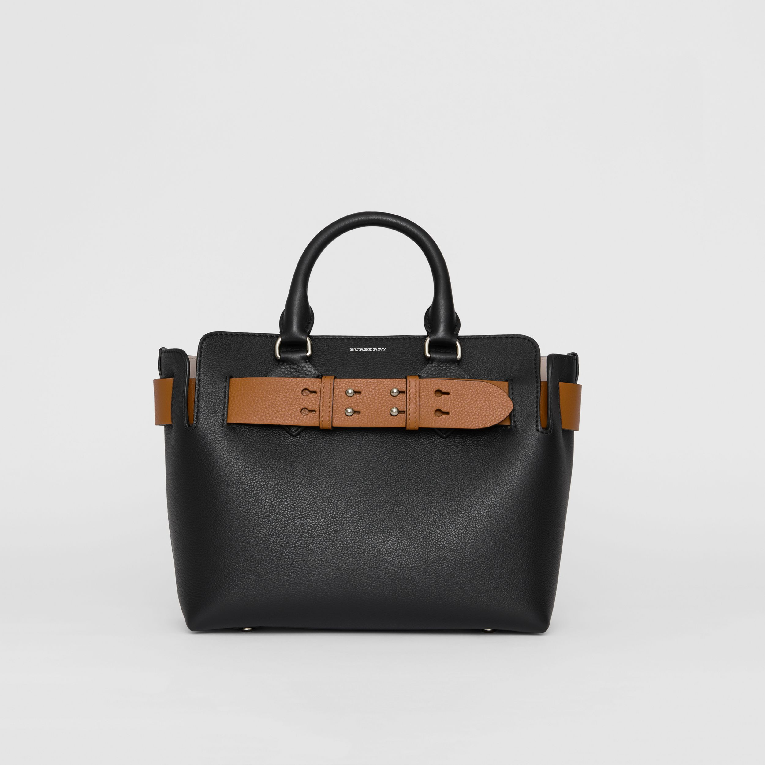 The Small Leather Belt Bag in Black - Women | Burberry - 1