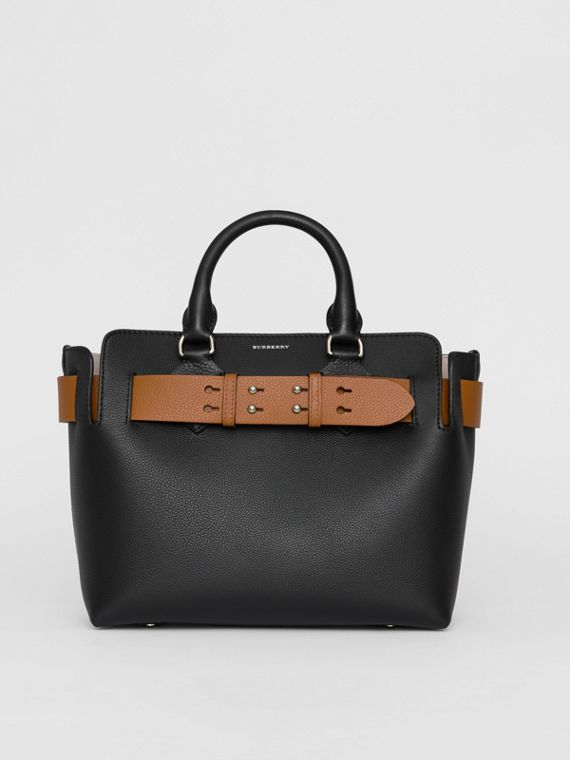 Borsa The Belt piccola in pelle (Nero)