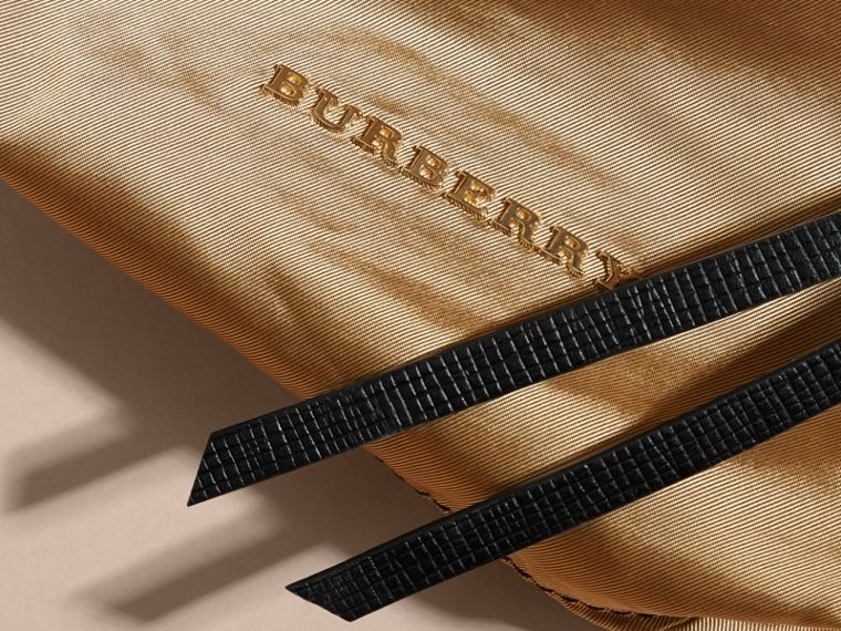 Small Zip-top Leather-trimmed Technical Nylon Pouch - Women | Burberry - cell image 1